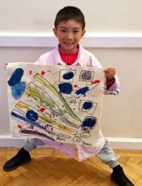 Art Class in Wimbledon, 2017, 7 year old student