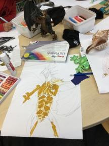 Art Class in Wimbledon, 2017, 9 year old student