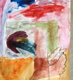 Art Classes in Raynes Park, 2016, 8 year old student